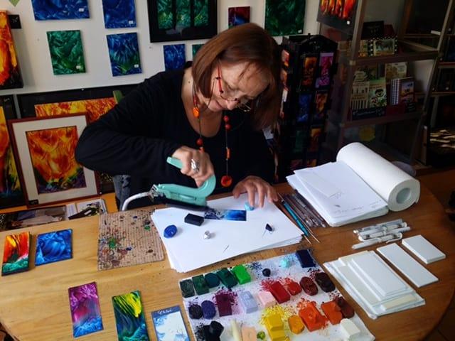 Artist at the Journées Européennes des Métiers d'Art