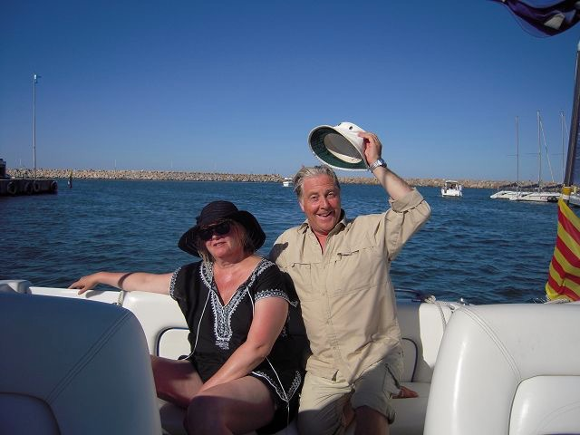Boat with rosy and Allan