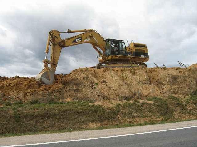 Digging just after village Catalan