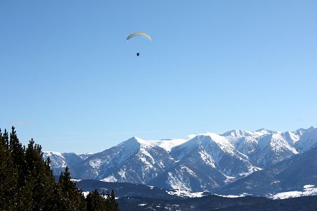 Winter sport in the high pyrenees