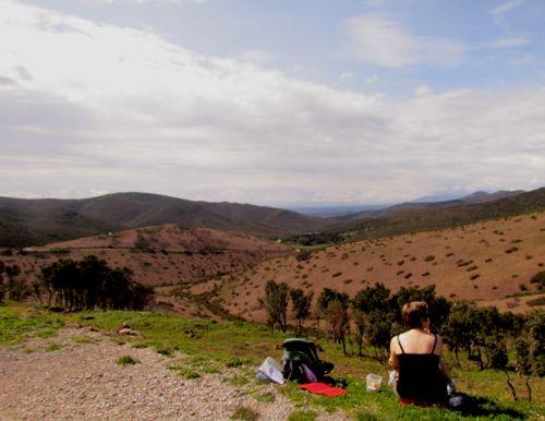The Col de Banyuls looking into Spain