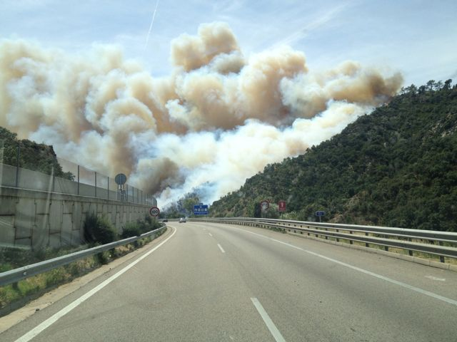 Fire in the Pyrenees-Orientales
