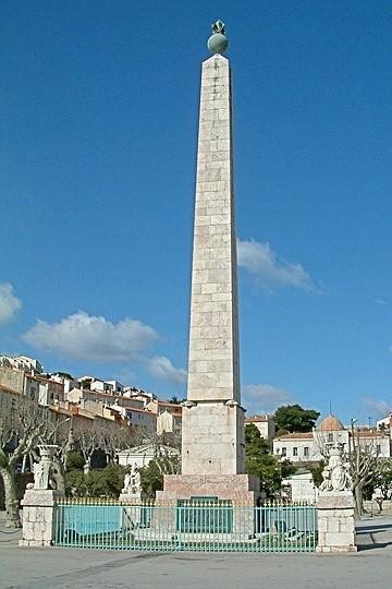 The obelisk in Port Vendres