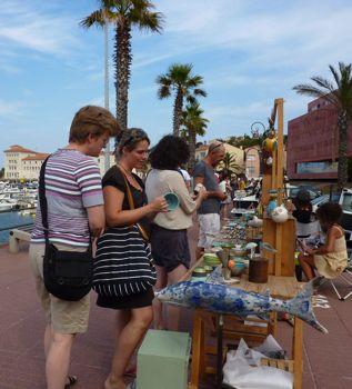 Pottery market, Banyuls sur Mer