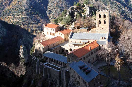 The Benedictine Abbey of St Martin de Canigou has held its position on the slopes of Canigou for over ten centuries