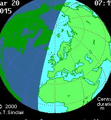 Solar Eclipse Friday, 20th March 2015