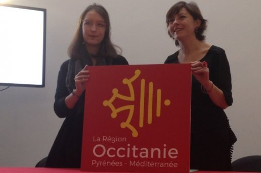 Lea Filipowicz and regional president Carole Delga