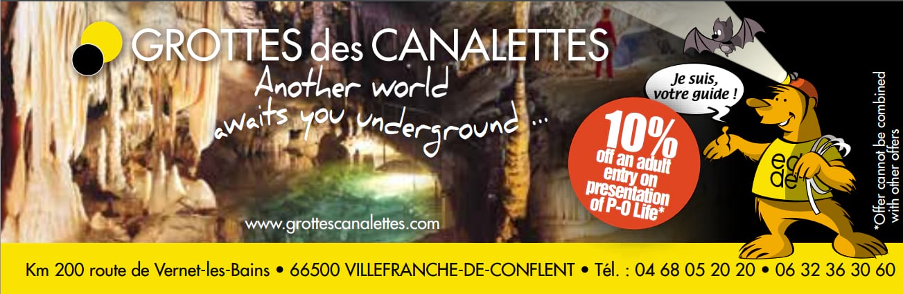 Ad for Grottes les Canalettes