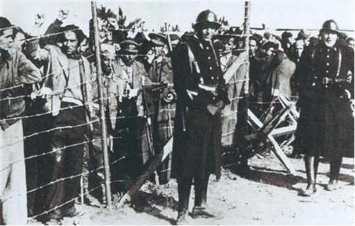 Concentration camp for Retirada refugees