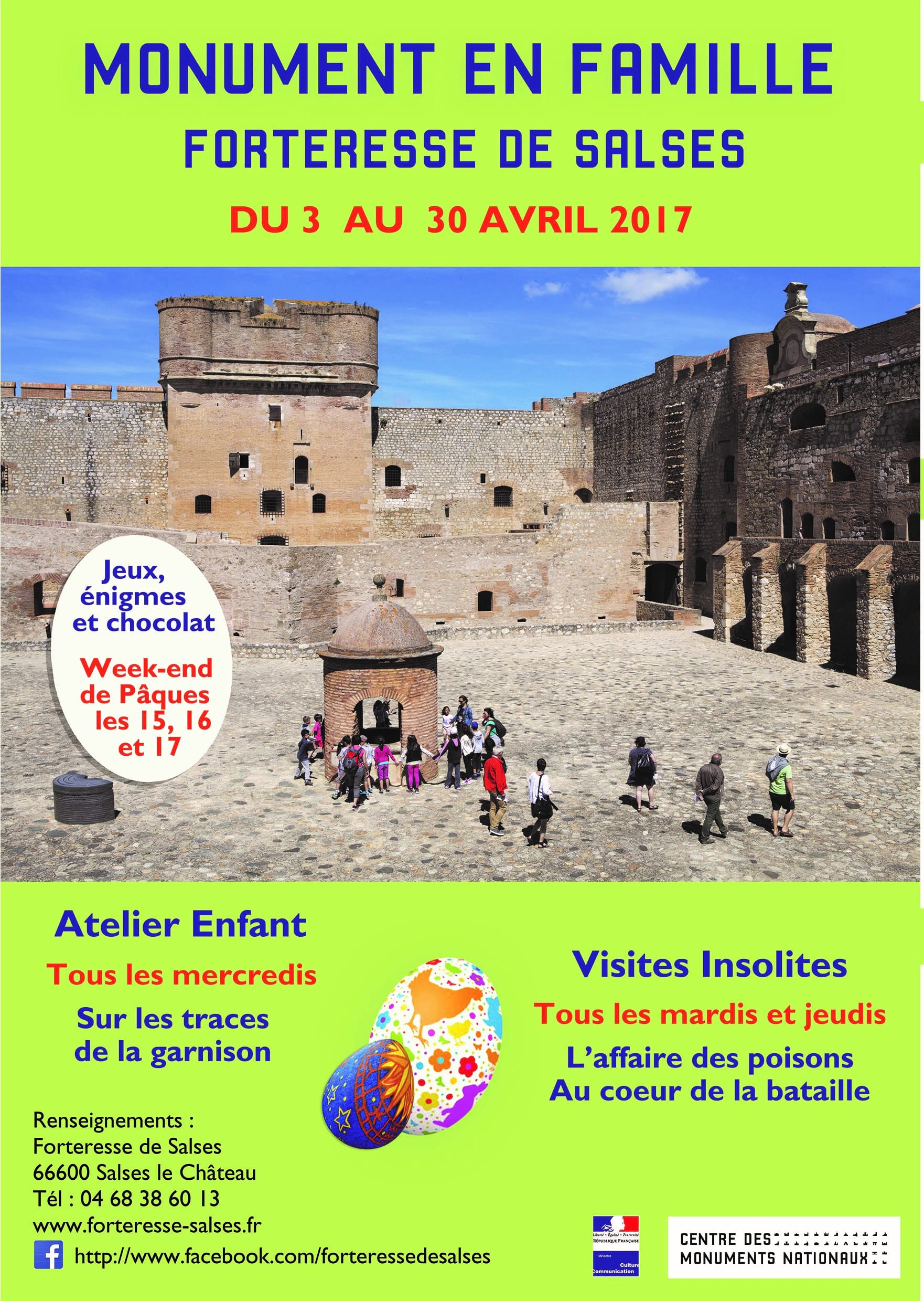 April activities at the Fortresse de Salses
