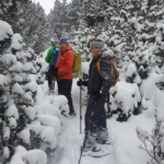 Snowshoe walking in the Pyrenees