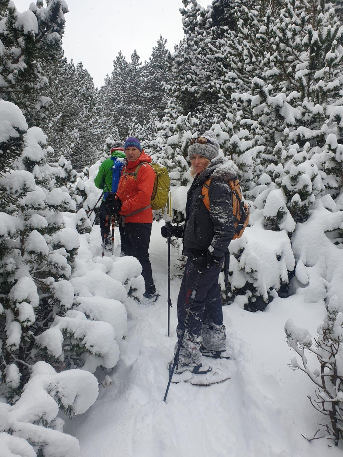Snowshoe walking in the Pyrenees