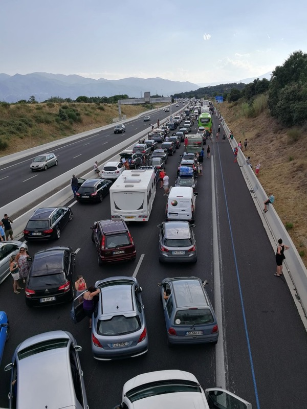 Traffic on A9