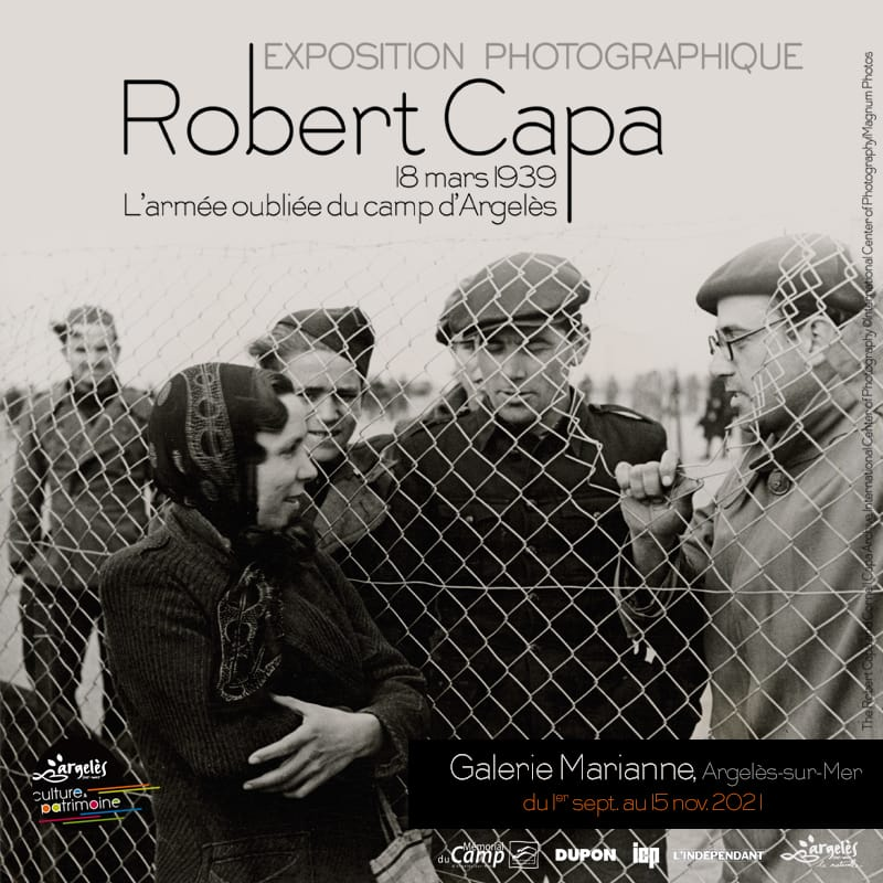 Robert Capa Exhibition at theGalerie Marianne in Argeles Village
