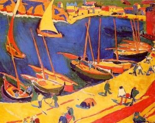 Collioure le port de peche by Andre Derain