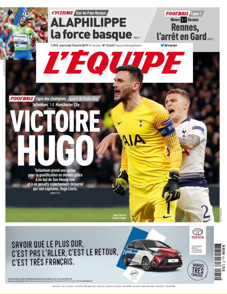 l'Equipe sports newspaper