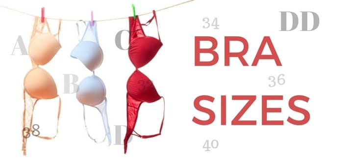Bra sizes in french