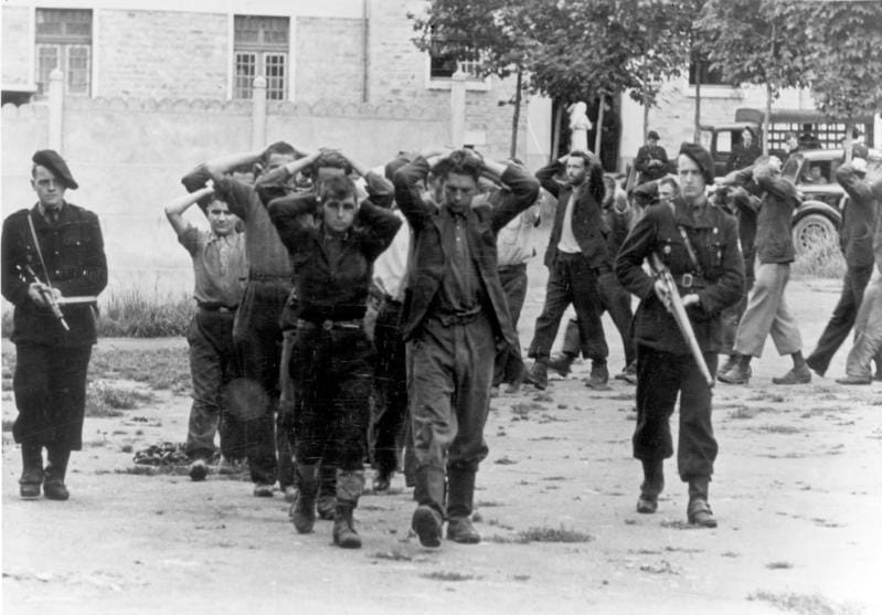 Resistance members captured by the Milice, July 1944.