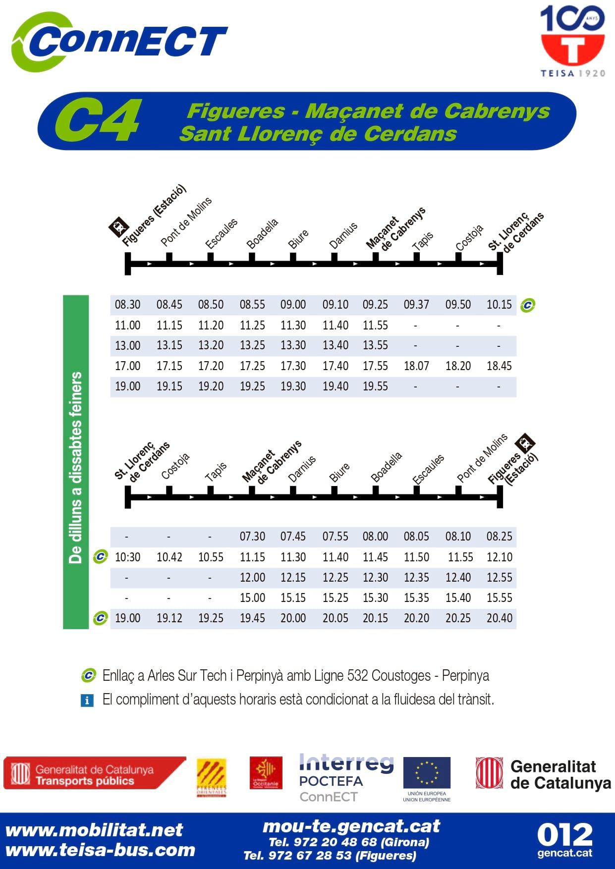 C4 bus catalonia