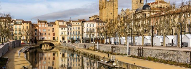 Canal de la Robine in Narbonne, Languedoc-Roussillon