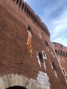 Catalan flag and Castillet