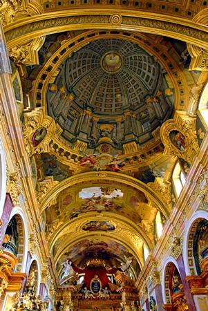 Jesuit Church Vienna - Fresco with Trompe l'oeil - Andrea Pozzo - 1703