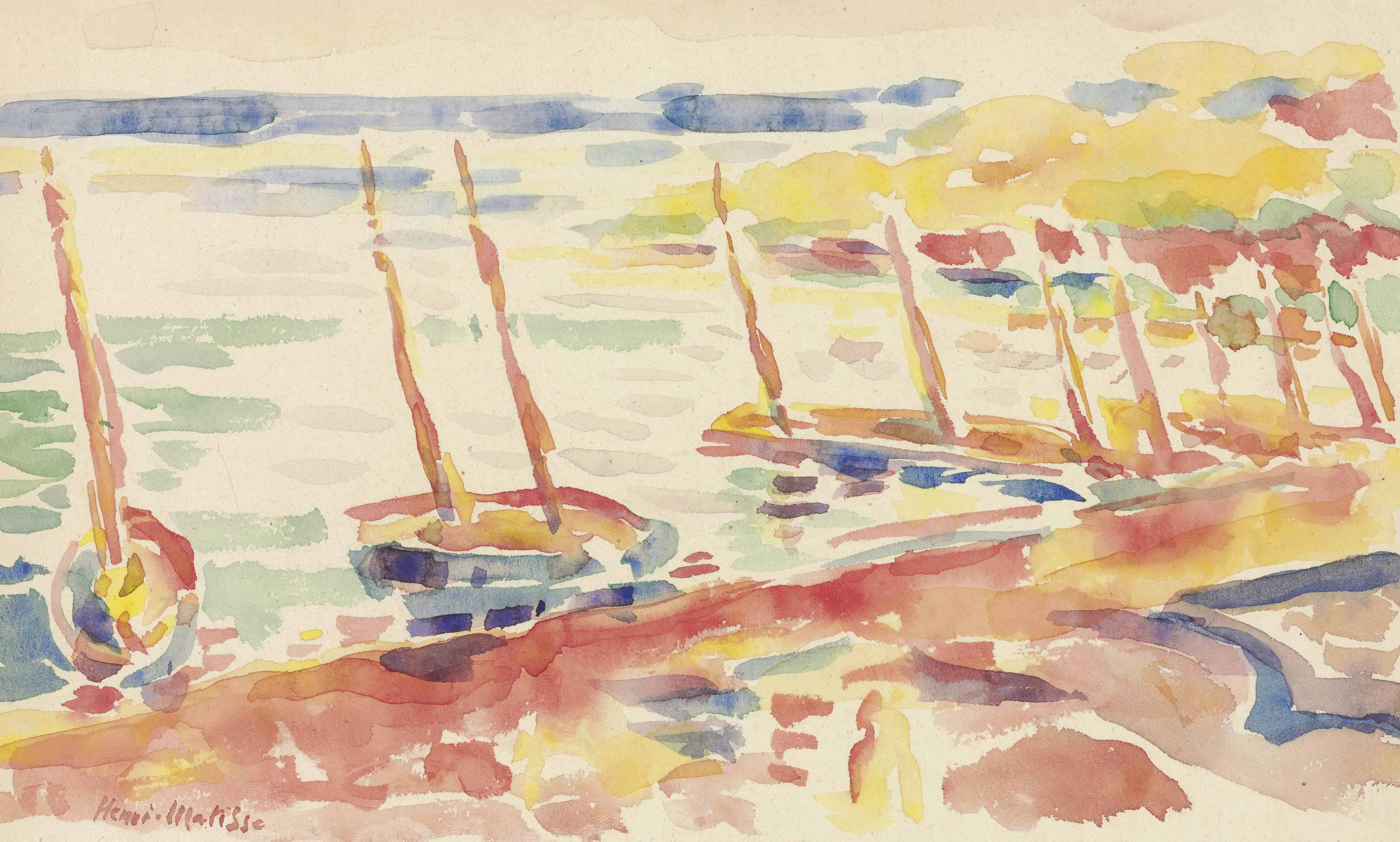 Henri Matisse Bateaux à Collioure