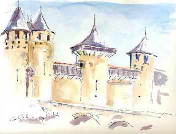 Chateau Comtal by Clare Gallaway