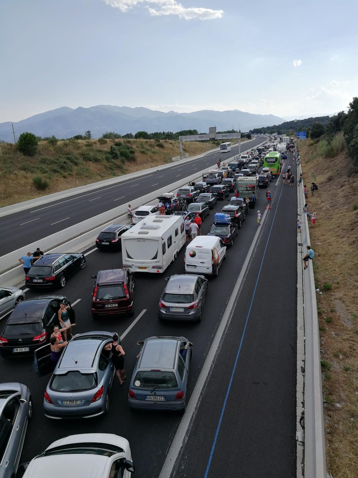 Motorway traffic pyrenees orientales