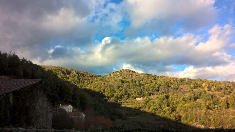 The castle seen from Montferrer