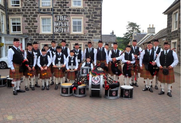 Comrie Pipe Band comes to the P-O