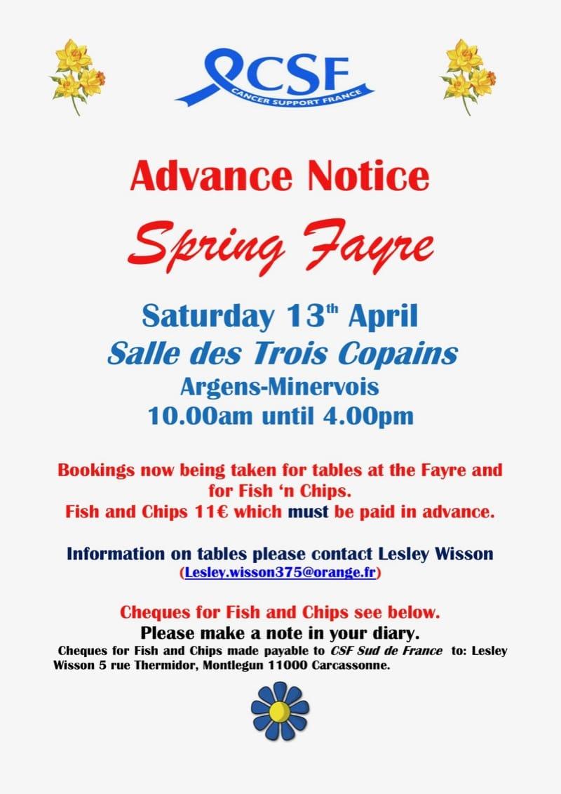 CSF Spring Fayre