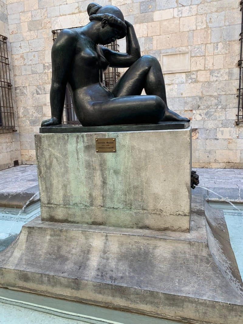 Maillol Statue in Courtyard of Hotel de Ville Perpignan