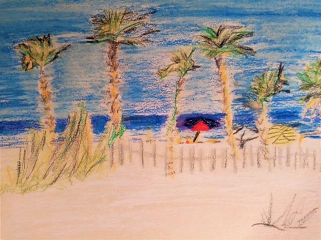 beach scene st cyprien