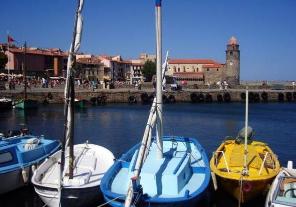 Catalan barques in Collioure