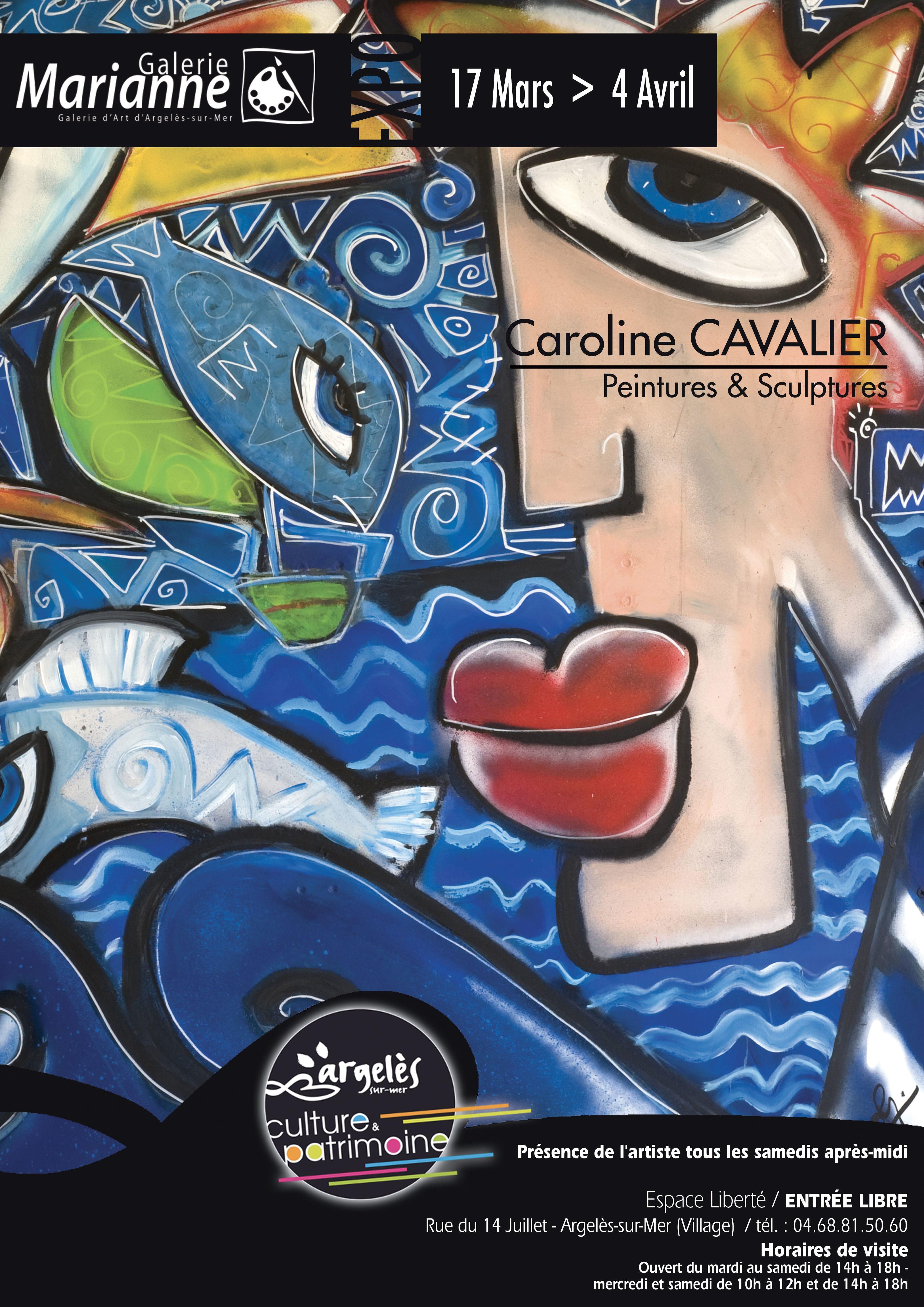 Caroline Cavalier exhibits at Galerie Marianne