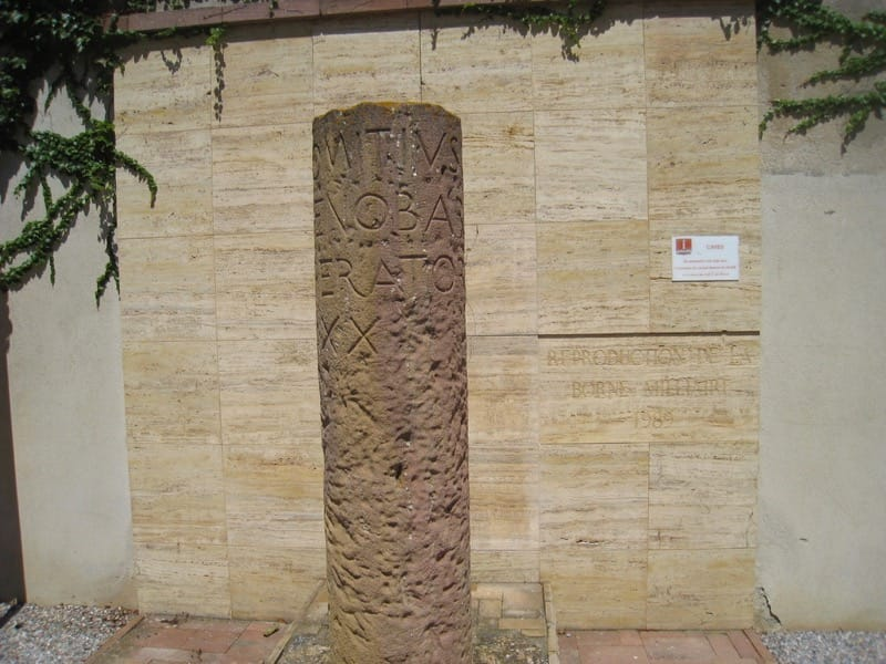 alk: La garrigue de Caves: copy of roman pillar