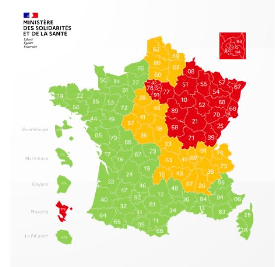 covid regional map