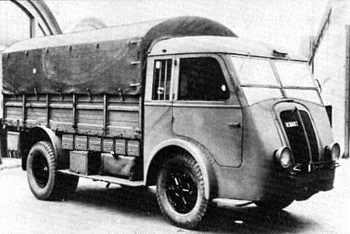 Popular Renault truck used throughout Europe during the war