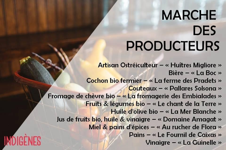 Producers' market Indigenes wine salon