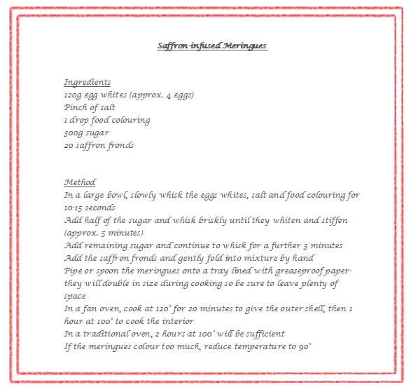 meringue recipe saffron de marie