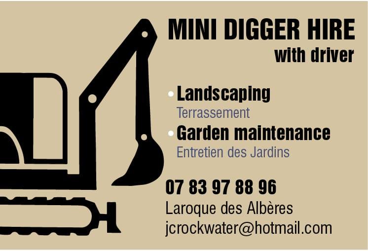 mini digger hire