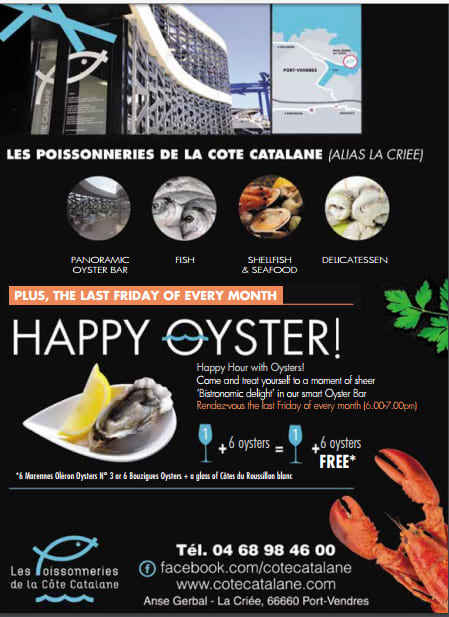 Ad for La Criée, Fish Market and Oyster Bar