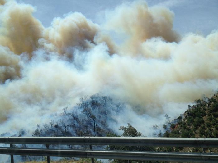 Fires at La Jonquera 2012