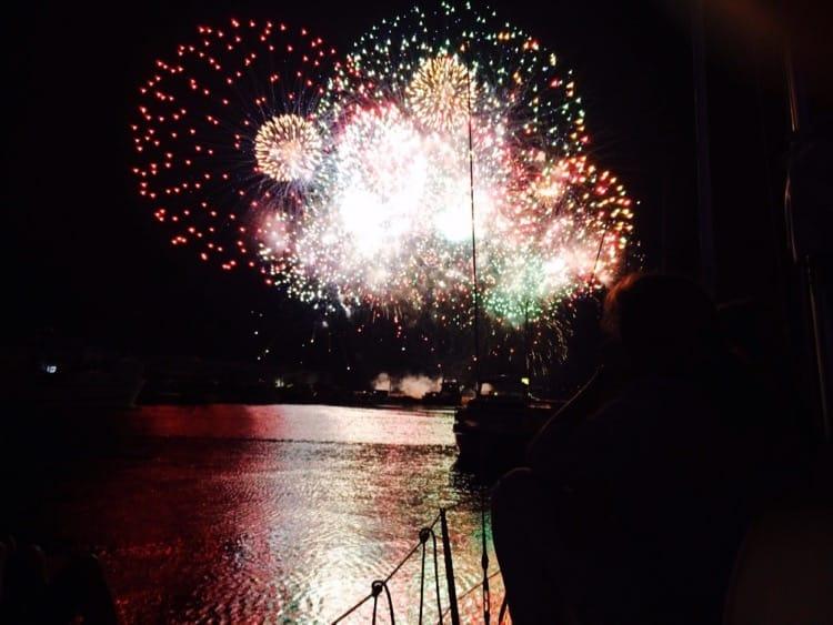 Saint Cyprien Firework display 15th August