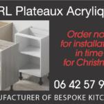 plateaux acryliques
