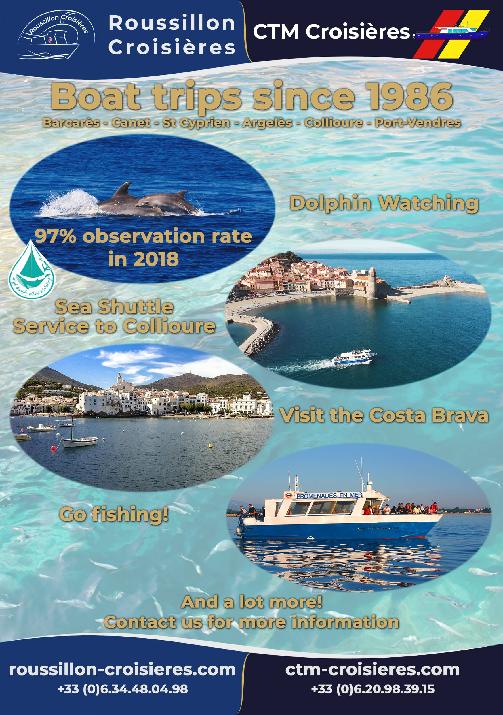 boat trips with oussillon croisieres